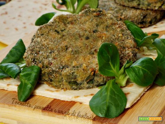Hamburger di pane, spinaci e ricotta
