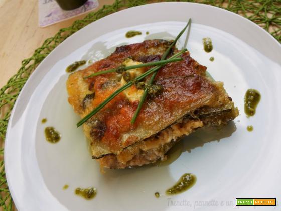 Lasagna di zucchine e pesto