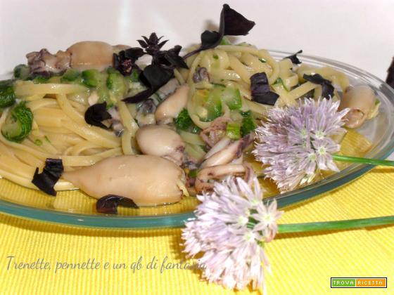 Linguine con seppioline e zucchine