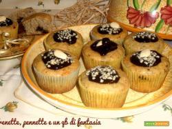 Muffin alla banana glassati