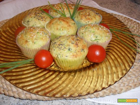 muffin di zucchine e mandorle