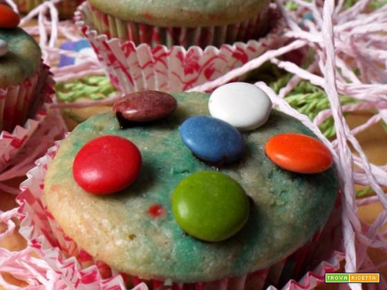 Muffin golosi e colorati con sorpresa !!