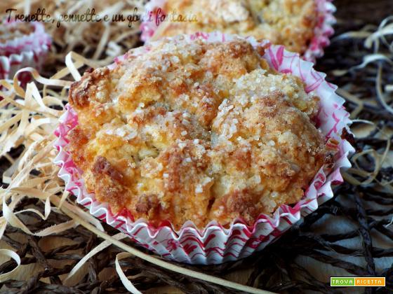 Muffin sbriciolati con marmellata di arance e cioccolato