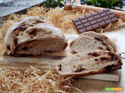 Pane morbido con cioccolato al latte