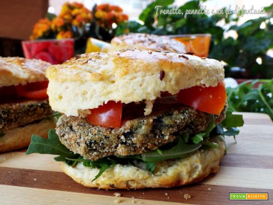 Panini scones con hamburger di verdura