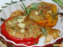 Peperoni ripieni patate, tonno e un qb di scamorza