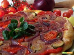 Pizza rovesciata con verdure