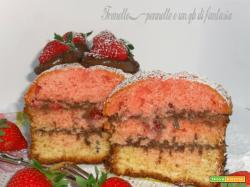Plumcake con crema di nutella e fragole