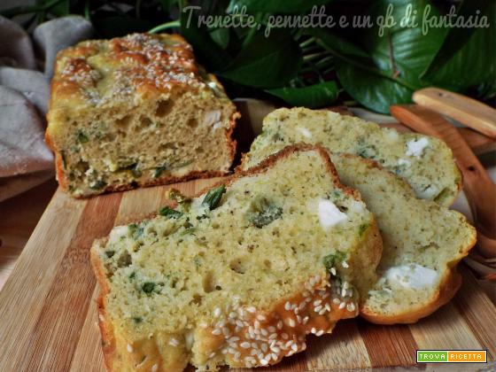 Plumcake salato con asparagi e feta