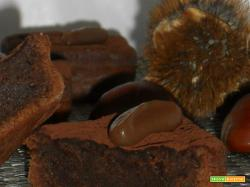 Quadrotti alla crema di marroni e fondente
