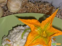 Risotto fiori di zucca e crescenza