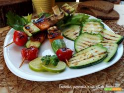 Spiedini di verdure miste e melone