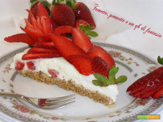 Torta cheese-cake con fragole