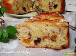 Torta di mele, albicocche e cioccolato