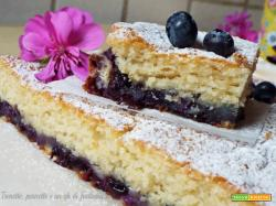Torta di mirtilli e yogurt greco