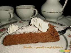 Torta fondente con ricotta e yogurt