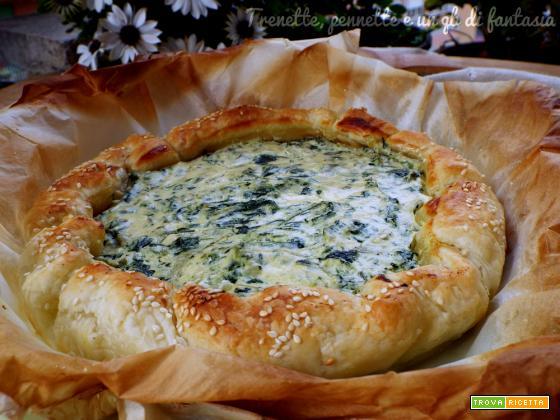 Torta rustica salata con ricotta e spinaci