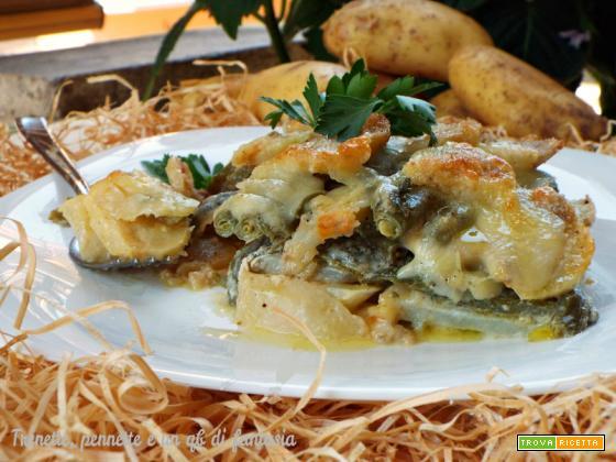 Tortino di patate e fagiolini