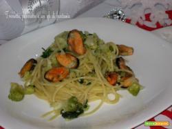 Vermicelli con cozze e broccolo romano