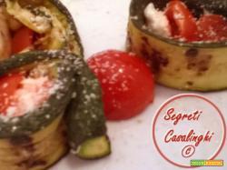 involtini zucchine pomodori mozzarella
