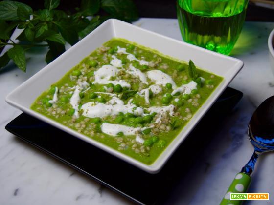 siamogolosiani : crema fredda di piselli e grano saraceno