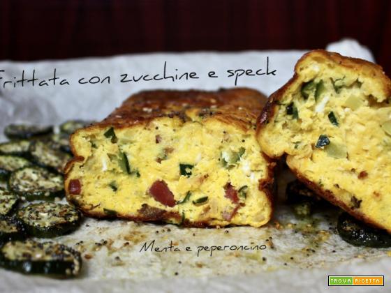 Frittata con zucchine e speck