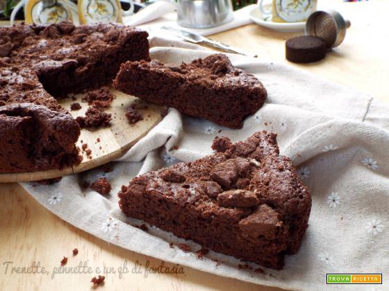 Torta brownie al cioccolato e fondi di caffè