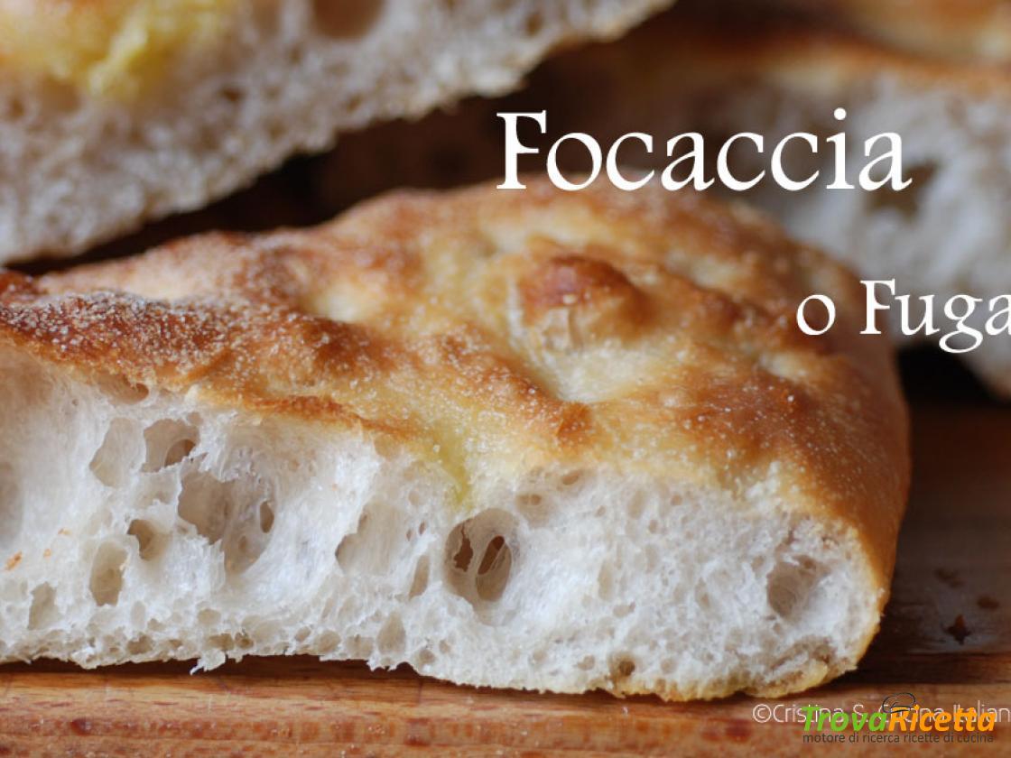 Ricette Pasta Madre Rinfrescata.Focaccia O Fugassa Ricetta Con Lievito Madre Ricetta Trovaricetta Com