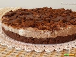Cheesecake con ricotta e briciole di pan di stelle