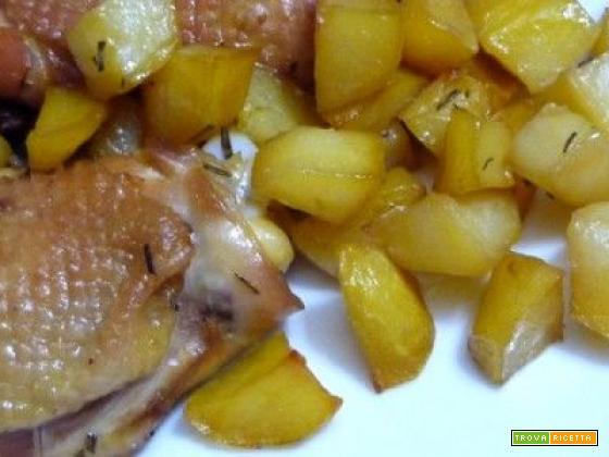 Coscette di pollo con patate al microonde