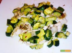 Merluzzo con zucchine al microonde