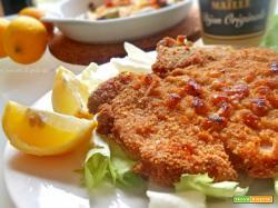 cotoletta impanata al forno-ricetta facile,veloce e gustosa