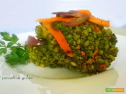 Crocchette di orzo, carote e spinaci