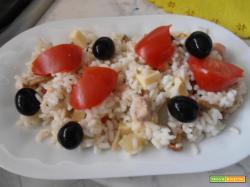 insalata di riso,veloce e colorata