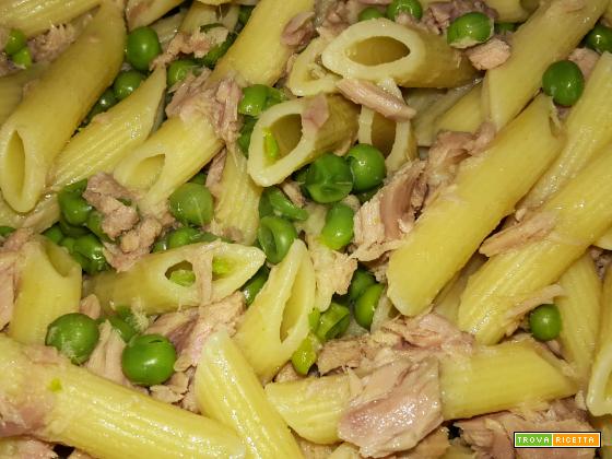 ricette veloci pasta con il tonno e piselli ricetta