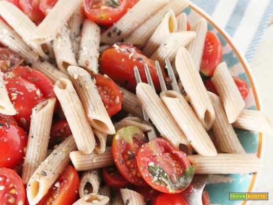 Pasta Fredda con Pomodorini marinati all'Aceto Balsamico