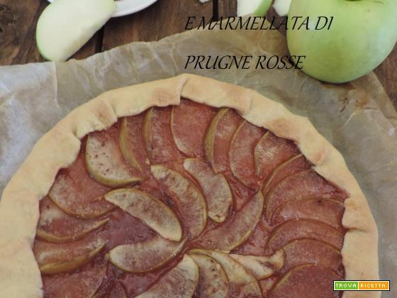 Brisèe di mele smith e marmellata di prugne rosse