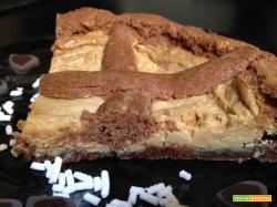 Crostata al cacao con crema di nocciole al cioccolato bianco