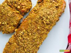 Filetto di salmone in crosta di pistacchi
