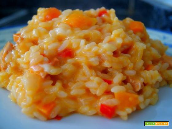 Risotto zucca carota e Castelmagno