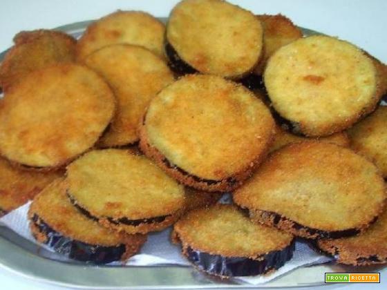 Rondelle di melanzane impanate croccanti