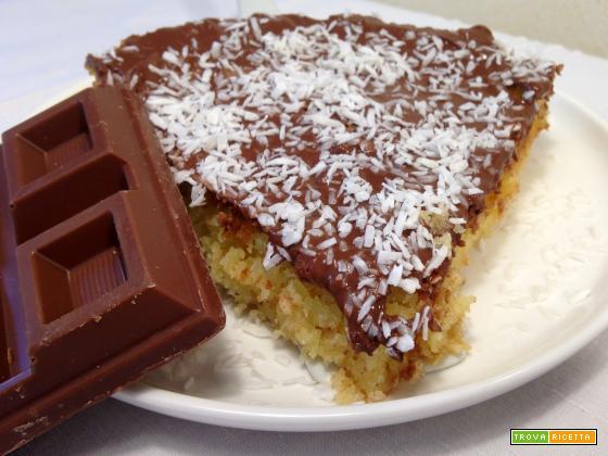 Torta cocco e cioccolato con yogurt