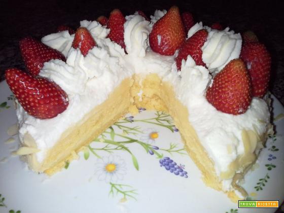 Torta delle feste (cioccolato bianco e panna)