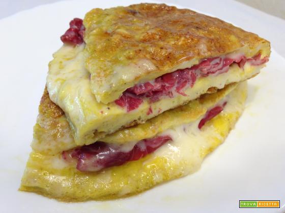 Omelette bresaola e mozzarella