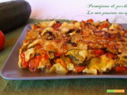 Parmigiana di zucchina e pomodorino