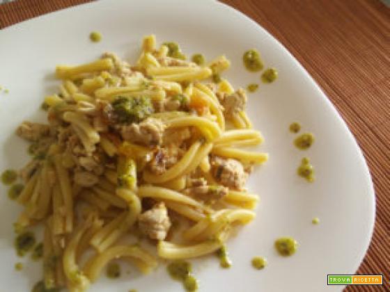 Pasta palamita pesto di pistacchi e pomodorini