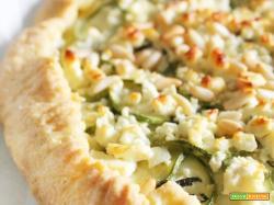 Torta salata Zucchine e Feta e Brisée pronta in 5 minuti!