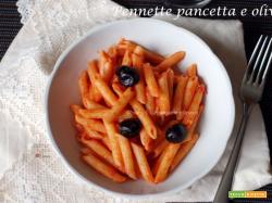 Pennette pancetta e olive, ricetta last minute