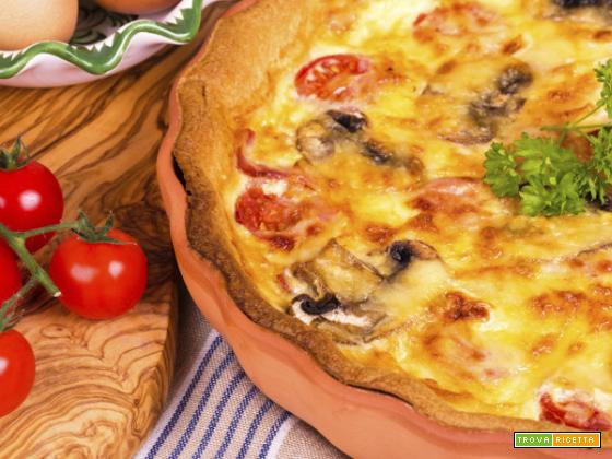 Tortino tonno, peperoni e pomodori