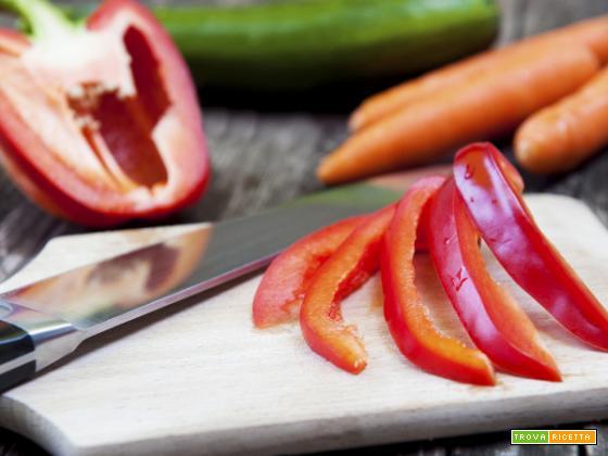 Peperoni e porri in insalata